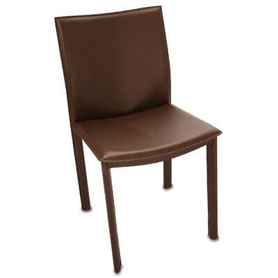 Berggren Parsons Chair Upholstery: Brown