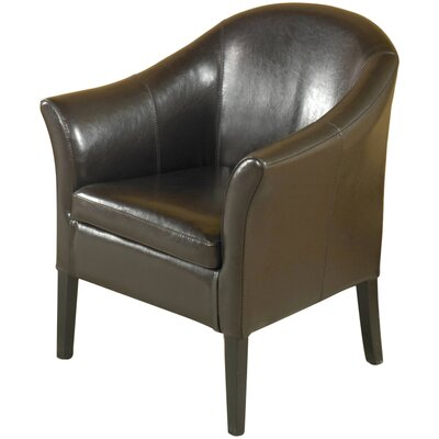 Gilbert Leather Barrel Chair Color: Brown