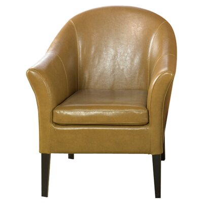 Gilbert Leather Barrel Chair Color: Camel