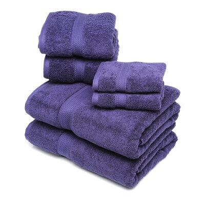 Cotton 6 Piece Towel Set Color: Purple