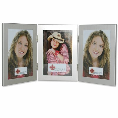 Ponce Hinged Triple Picture Frame Color: Brushed Satin Silver