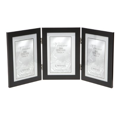 Ponce Hinged Triple Picture Frame Color: Black