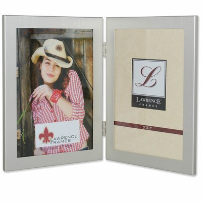 Boyle Hinged Double Picture Frame Color: Brushed Satin Silver