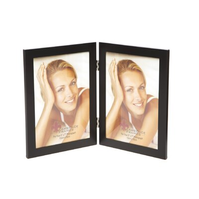 Boyle Hinged Double Picture Frame Color: Black