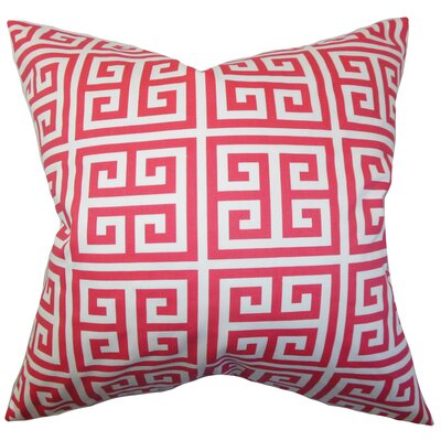 Blevins 100% Cotton Throw Pillow Color: Pink, Size: 22 x 22