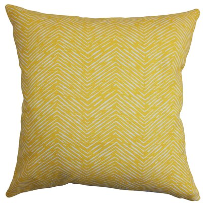 Clintwood 100% Cotton Throw Pillow Color: Corn Yellow, Size: 18 H x 18 W