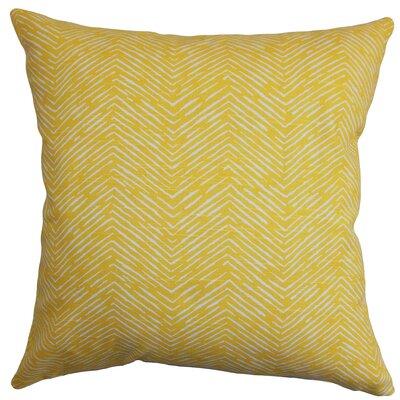 Batista Delgado 100% Cotton Throw Pillow Color: Corn Yellow, Size: 20
