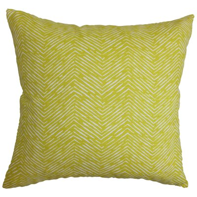 Clintwood 100% Cotton Throw Pillow Color: Artist Green, Size: 18 H x 18 W