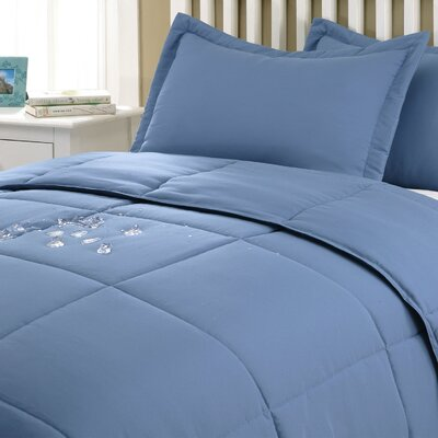 Marks Comforter Set Color: Smoke Blue, Size: Twin XL