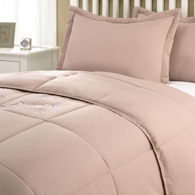 Marks Comforter Set Size: Twin, Color: Taupe
