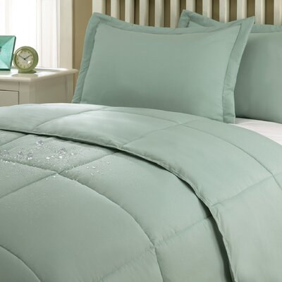Marks Comforter Set Color: Sage, Size: Twin