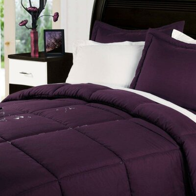 Marks Comforter Set Color: Fig, Size: Twin XL