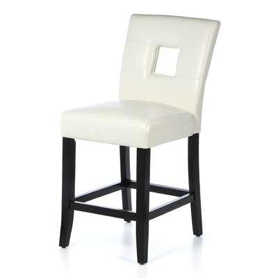 Mckinnie 24 Bar Stool (Set of 2) Finish: White