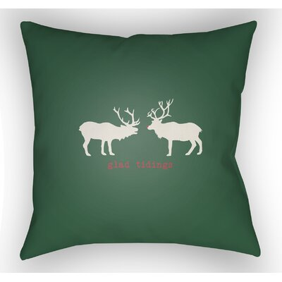 Maroney Indoor/Outdoor Throw Pillow Size: 20 H x 20 W x 4 D, Color: Green / White / Red