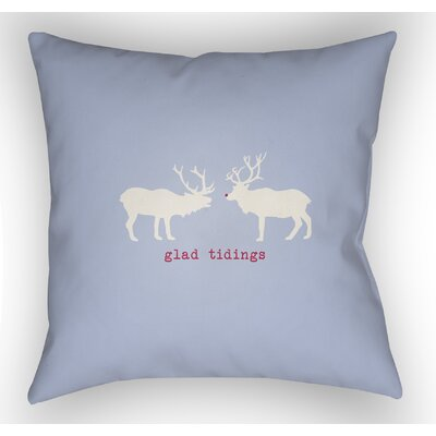 Maroney Indoor/Outdoor Throw Pillow Size: 18 H x 18 W x 4 D, Color: Blue / White / Red