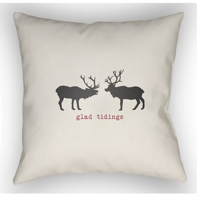Maroney Indoor/Outdoor Throw Pillow Size: 20 H x 20 W x 4 D, Color: White / Black / Red