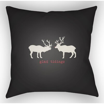 Maroney Indoor/Outdoor Throw Pillow Size: 18 H x 18 W x 4 D, Color: Black / White / Red