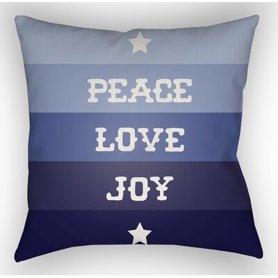Stripe Indoor/Outdoor Throw Pillow Size: 18 H x 18 W x 4 D, Color: Blue / White