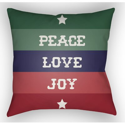 Marotta Indoor/Outdoor Throw Pillow Size: 18 H x 18 W x 4 D, Color: Green / Blue / Red / White