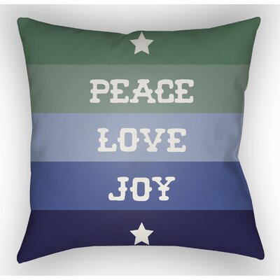 Marotta Indoor/Outdoor Throw Pillow Size: 20 H x 20 W x 4 D, Color: Blue / Green / White