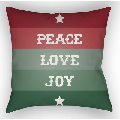 Stripe Indoor/Outdoor Throw Pillow Size: 20 H x 20 W x 4 D, Color: White / Red / Green