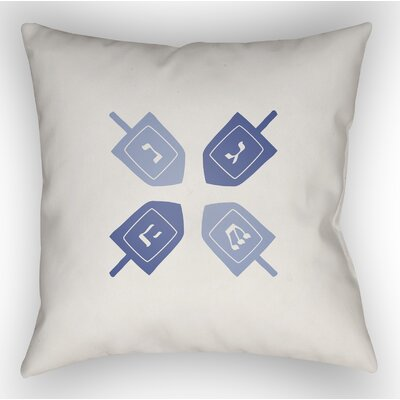 Contemporary Square Indoor/Outdoor Throw Pillow Size: 20 H x 20 W x 4 D, Color: White/Blue