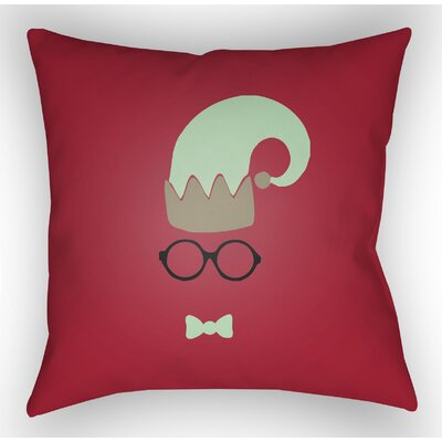 Marro Indoor/Outdoor Throw Pillow Size: 20 H x 20 W x 4 D, Color: Red / Green