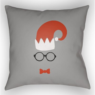 Marro Indoor/Outdoor Throw Pillow Size: 18 H x 18 W x 4 D, Color: Gray / Red / White