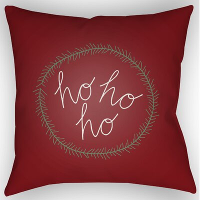 Marrufo Indoor/Outdoor Throw Pillow Size: 20 H x 20 W x 4 D, Color: Red / White / Green