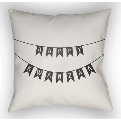 Marshburn Indoor/Outdoor Throw Pillow Size: 18 H x 18 W x 4 D, Color: White/Black