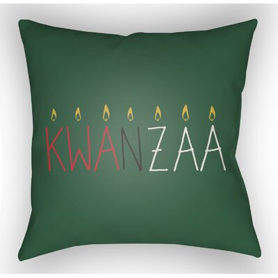 Marshburn Indoor/Outdoor Throw Pillow Size: 18 H x 18 W x 4 D, Color: Green/Yellow/Red/White