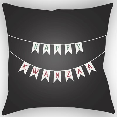 Marshburn Indoor/Outdoor Throw Pillow Size: 20 H x 20 W x 4 D, Color: Black/White/Green/Red
