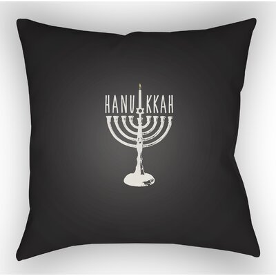 Marson Indoor/Outdoor Throw Pillow Size: 20 H x 20 W x 4 D, Color: Black/White