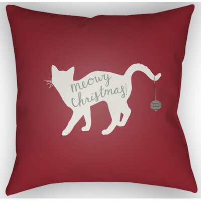 Marston Indoor/Outdoor Throw Pillow Size: 18 H x 18 W x 4 D, Color: Red / White