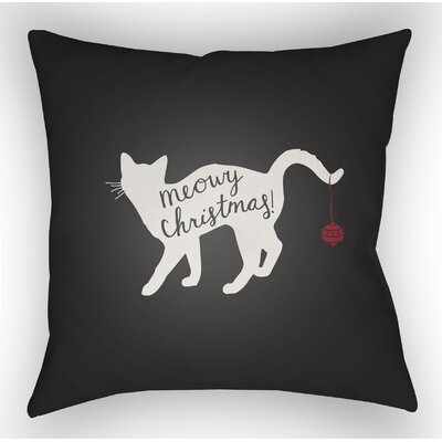 Marston Indoor/Outdoor Throw Pillow Size: 20 H x 20 W x 4 D, Color: Black / White