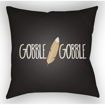 Gobble Indoor/Outdoor Throw Pillow Size: 20 H x 20 W x 4 D, Color: Black/White/Beige