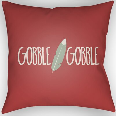 Gobble Indoor/Outdoor Throw Pillow Size: 20 H x 20 W x 4 D, Color: Red/Green/White