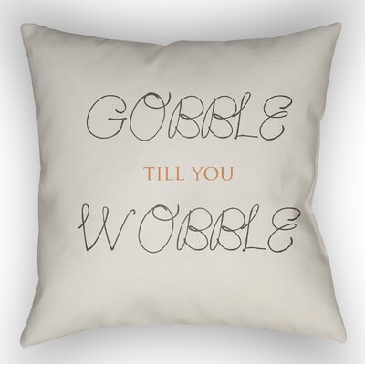 Gobble Wobble Indoor/Outdoor Throw Pillow Size: 20 H x 20 W x 4 D, Color: White/Brown