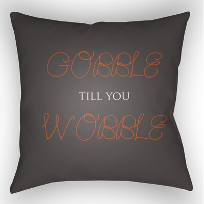 Gobble Wobble Indoor/Outdoor Throw Pillow Size: 18 H x 18 W x 4 D, Color: Brown/Orange