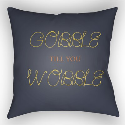 Gobble Wobble Indoor/Outdoor Throw Pillow Size: 18 H x 18 W x 4 D, Color: Blue/Yellow