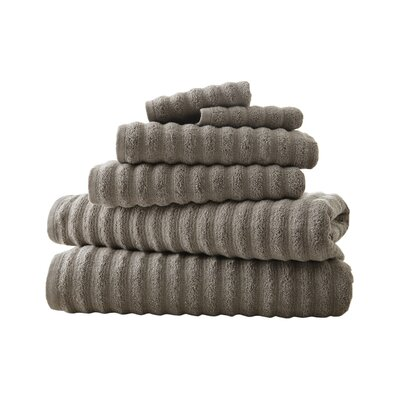 Luxury Quick Dry Cotton 6 Piece Stripe Cotton Towel Set