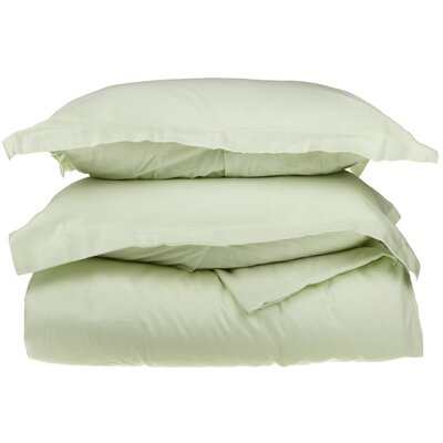 Backwell Duvet Cover Set Color: Moss, Size: King/Cal.King