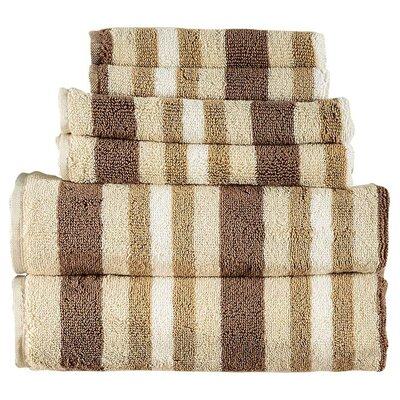 6 Piece Bath Towel Set Color: Chocolate