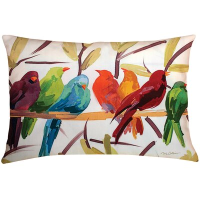 Mcphearson Flocked Together Birds Throw Pillow