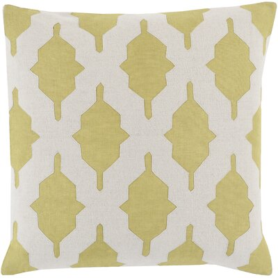 Metsahovi Cotton Throw Pillow Size: 20 H x 20 W x 4 D, Color: Lime, Filler: Polyester