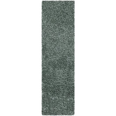 Mchaney Sea Green Area Rug Rug Size: Runner 23 x 8