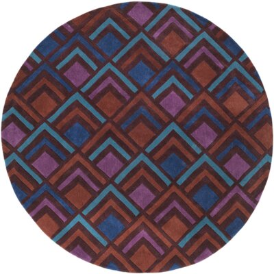 Mcgray Hand-Tufted Purple/Blue Area Rug Rug Size: Round 8