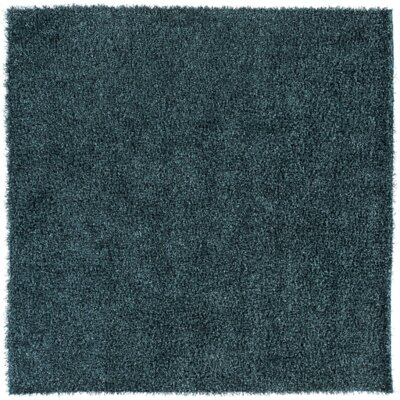 Mchaney Hand-Tufted Teal/Black Area Rug Rug Size: Square 8