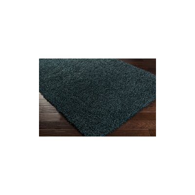 Mchaney Hand-Tufted Teal/Black Area Rug Rug Size: Rectangle 4 x 6