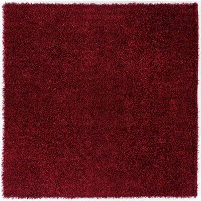 Mchaney Hand-TuftedRed Area Rug Rug Size: Square 8